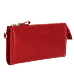 Женский кошелек из красной натуральной кожи с ремешком на запястье от Versado, арт. VD032 red