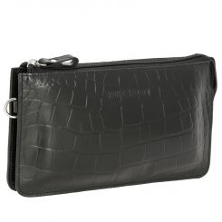 Стильный мужской клатч из натуральной кожи с крупным тиснением от Versado, арт. VD035-1 black stone