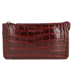 Компактный женский клатч из дорогой натуральной кожи с тиснением от Versado, арт. VD035 1 red croco
