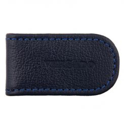 Зажим для купюр из качественной натуральной кожи синего оттенка от Versado, арт. VD131 navy