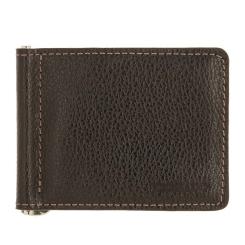 Удобный кожаный зажим для купюр, раскладывающийся надвое от Versado, арт. VD133 relief brown
