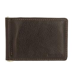 Коричневый кожаный зажим для купюр с несколькими кармашками от Versado, арт. VD134 relief brown