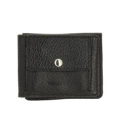 Практичный кожаный зажим для денег с разными отделами и кармашками от Versado, арт. VD135 relief black