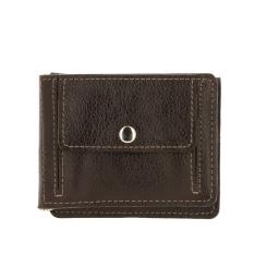 Зажим для денег с двумя отделами и кармашками для кредиток и документов от Versado, арт. VD135 relief brown