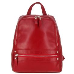 Небольшой женский рюкзак из натуральной кожи, с одним отделением от Versado, арт. VD170 red