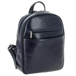 Небольшой женский рюкзак в городском стиле из синей натуральной кожи от Versado, арт. VD189 navy