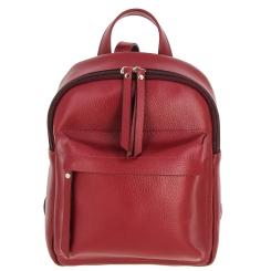 Светло-красный женский рюкзак из натуральной кожи от Versado, арт. VD193 light red