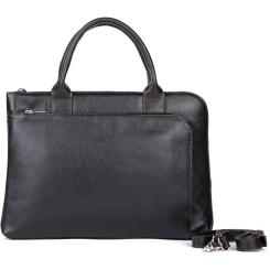 Мужская сумка из натуральной черной кожи с естественной фактурой от Versado, арт. VG012 1 black