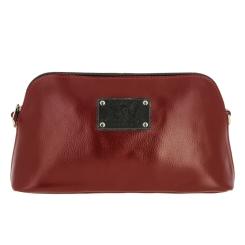 Стильный женский кожаный клатч с фирменной металлической накладкой от Versado, арт. VG153 2 red