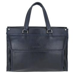 Вместительная и практичная мужская сумка из синей натуральной кожи от Versado, арт. VG190 13 navy