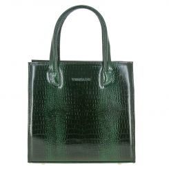 Красивая женская сумка из натуральной кожи с тиснением под рептилию от Versado, арт. VG253 green croco