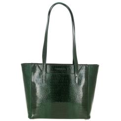 Стильная женская сумка зеленого цвета из тисненной кожи  от Versado, арт. VG442 green croco