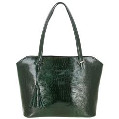 Модная женская сумка из натуральной кожи, зеленого цвета от Versado, арт. VG502 green croco