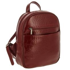 Женский кожаный рюкзак коричневого цвета с эффектным тиснением от Versado, арт. VD189 red stone