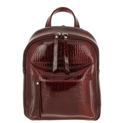 Роскошный женский рюкзак из натуральной кожи с тиснением под крокодила от Versado, арт. VD193 red croco