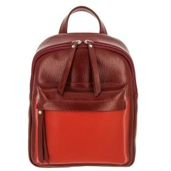 Стильный городской рюкзак для женщин, выполнен из красной натуральной кожи от Versado, арт. VD193 red