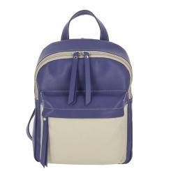 Вместительный женский кожаный рюкзак фиолетового цвета от Versado, арт. VD193 violet/milk