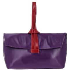 Модный женский кожаный клатч, фиолетового цвета для делового стиля от Versado, арт. VG409 violet