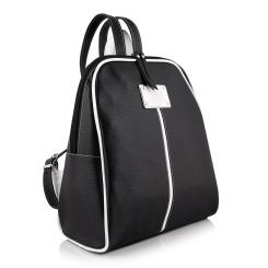Маленький рюкзак с одним отделением из натуральной черной кожи  от Versado, арт. VD093 black