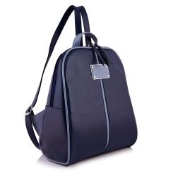 Синий небольшой женский рюкзак из натуральной кожи от Versado, арт. VD093 navy