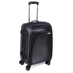 Дорожный чемодан тележка на колесах из прочного черного материала от VIP Collection, арт. LS4895