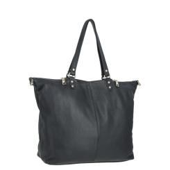 Большая женская сумка на плечо из черной натуральной кожи от VIP Collection, арт. LS13076