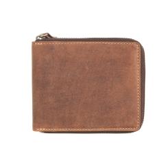 Практичное небольшое портмоне из качественной матовой кожи от Visconti, арт. 702 Bullet Oil Tan