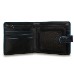 Раскладное портмоне с застежкой, выполненное в лаконичном стиле от Visconti, арт. ALP86 Black