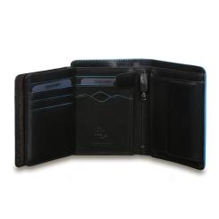 Раскладное мужское портмоне из натуральной кожи черного цвета от Visconti, арт. ALP87 Black