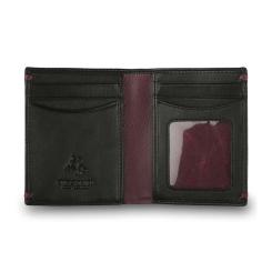Стильное вертикальное портмоне компактного размера от Visconti, арт. AP60 Black/Burgundy