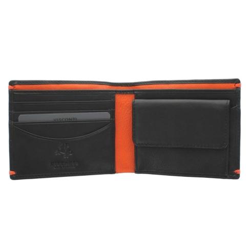 Портмоне Visconti AP62 Black/Orange