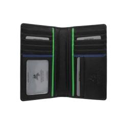 Мужское вместительное портмоне вертикального формата от Visconti, арт. BD12 Jaws Black/Cobalt/Green