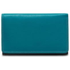 Стильный женский кожаный кошелек с удобной внешней монетницей от Visconti, арт. Bora RB43 Blue Multi