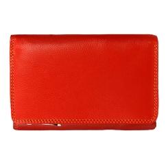 Компактный женский кошелек из натуральной кожи яркого красного цвета от Visconti, арт. Bora RB43 Red Multi