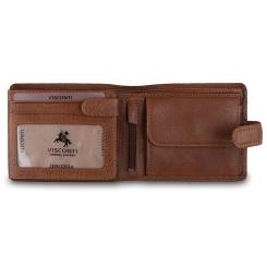 Мужское портмоне из натуральной кожи с оригинальной мягкой фактурой от Visconti, арт. DRW30