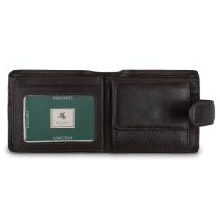Мужское портмоне с двумя перекидными вкладышами от Visconti, арт. HT13 Strand Choc
