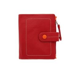 Практичный складной женский кошелек из натуральной кожи с застежкой на ремешке от Visconti, арт. M77 Mojito Red Multi