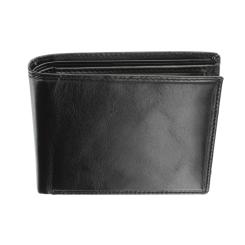Мужское компактное портмоне с кармашками на откидной части от Visconti, арт. MZ4 Lazio Italian Black