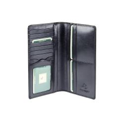 Практичное мужское кожаное портмоне с несколькими отделами от Visconti, арт. MZ6 Italian Black