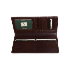 Раскладное мужское кожаное портмоне классического коричневого цвета от Visconti, арт. MZ6 Italian Brown