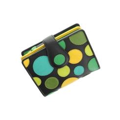 Компактный женский кожаный кошелек с яркой разноцветной аппликацией от Visconti, арт. P3 Lily Pad