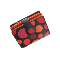 Компактный женский кожаный кошелек с яркой разноцветной аппликацией от Visconti, арт. P3 Very Berry