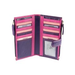 Модный женский кожаный кошелек с множеством карманов для пластиковых карт от Visconti, арт. RB100 Berry Multi