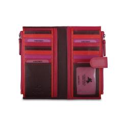 Элегантный женский кошелек большой вместимости, выполненный из натуральной кожи от Visconti, арт. RB100 Plum Multi