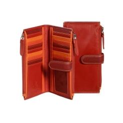 Роскошный красный кошелек из мягкой качественной кожи от Visconti, арт. RB100 Red Multi