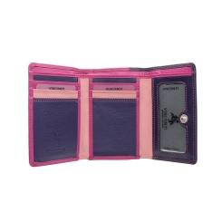 Практичный и оригинальный кошелек из качественной мягкой натуральной кожи от Visconti, арт. RB39 Berry Multi