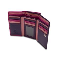 Классический женский кошелек, складывающийся втрое от Visconti, арт. RB43 Berry Multi