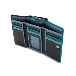 Женский кошелек из натуральной кожи синего и голубого цвета от Visconti, арт. RB43 Blue Multi