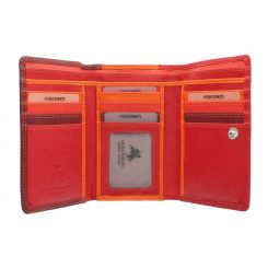 Женский кожаный кошелек от Visconti, арт. RB43 Red Multi
