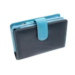 Стильный женский кожаный кошелек с множеством кармашков внутри от Visconti, арт. RB51 Fiji Blue Multi